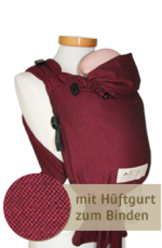 Storchenwiege BabyCarrier - bordeaux - Slim Version